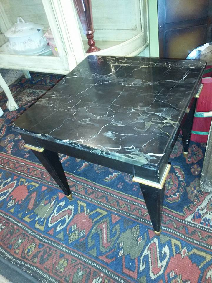 Small marble top occasional table by Baker Furniture. Will post size tomorrow. a great piece! $65