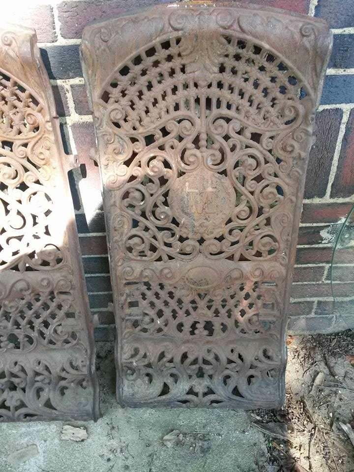 4 great grates. Can use for so many things. Hang on wall, grow flowers over them.