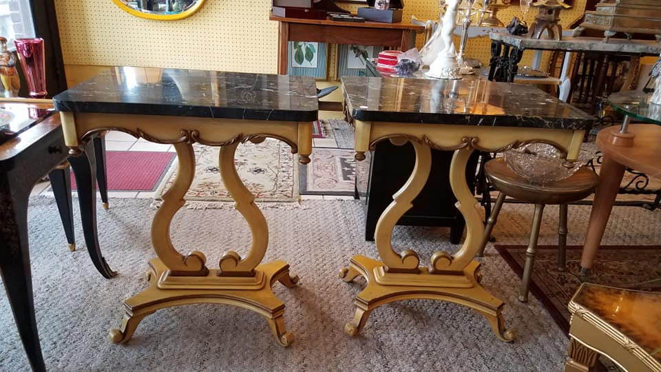 black marble side tables