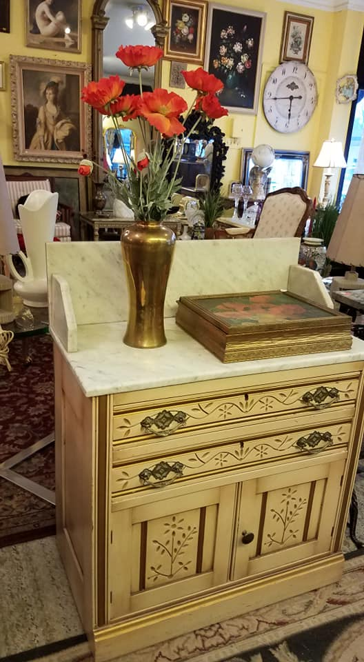 marble wash stand